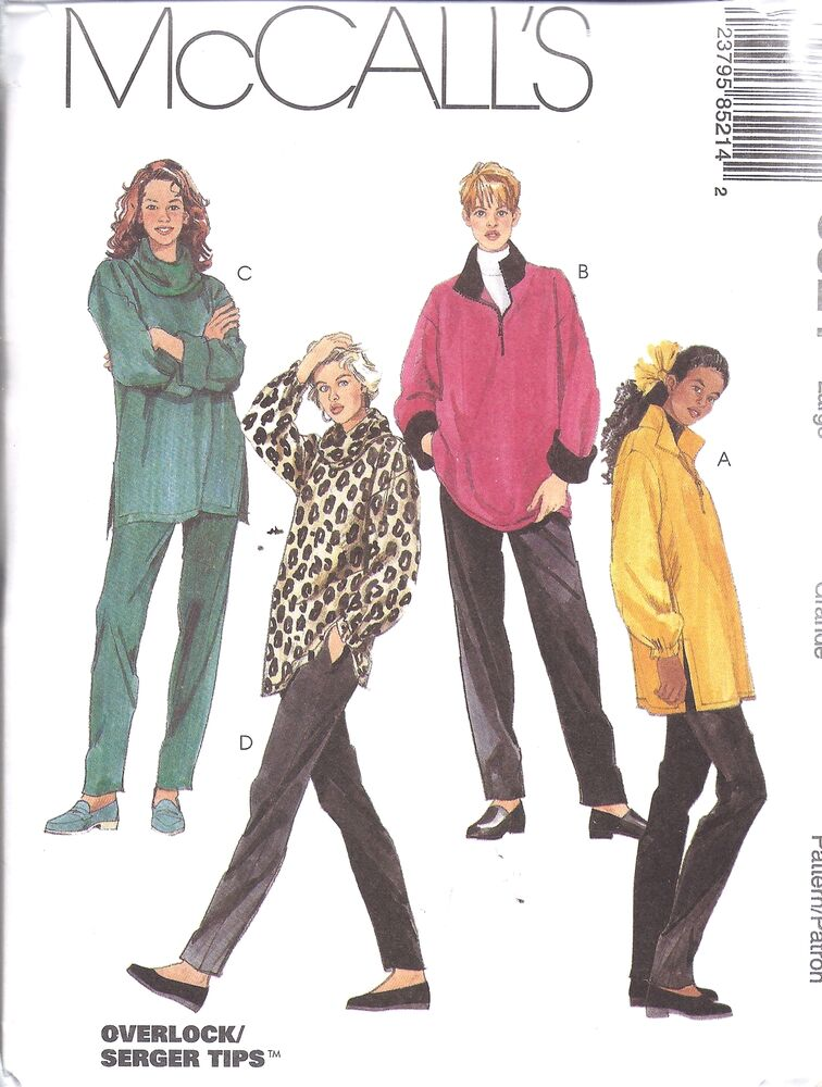 Stretch Knit Sewing Patterns : 8521 UNCUT McCalls SEWING Pattern Stretch Knit Tops Pull on Pants Exercise Re...