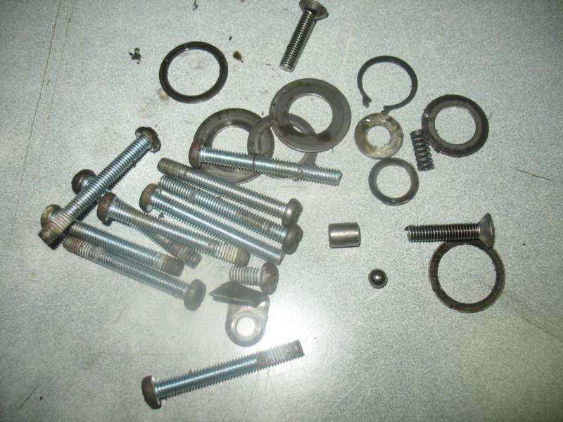 motor bolts parts lot 1976 honda xl125 76 xl 125 ebay. Black Bedroom Furniture Sets. Home Design Ideas