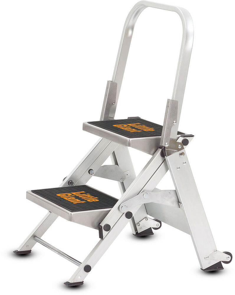 2 Step Little Giant Safety Step Ladder Jumbo 10210b Ebay