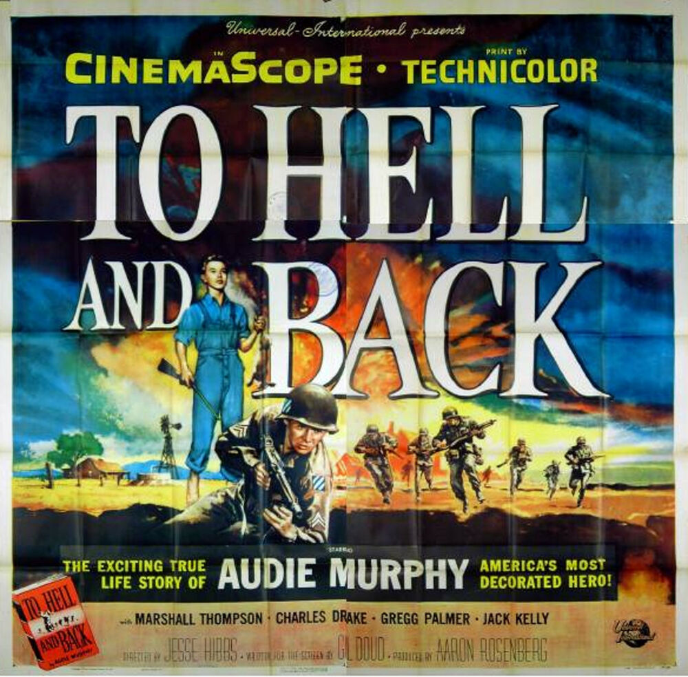 To Hell And Back 1955 Audie Murphy Us 6 Sheet Poster Ebay