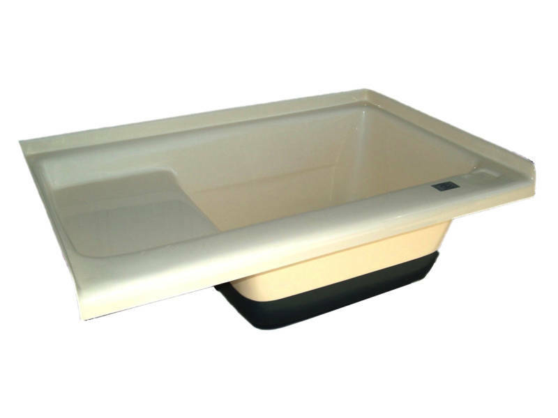 rv bath tub sit in step bathtub shower pan tu500rhcw ebay