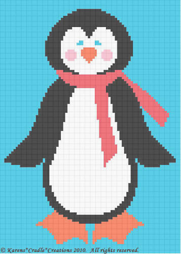 Free Crochet Pattern Penguin Afghan : Crochet Patterns - PENGUIN WITH SCARF afghan pattern eBay