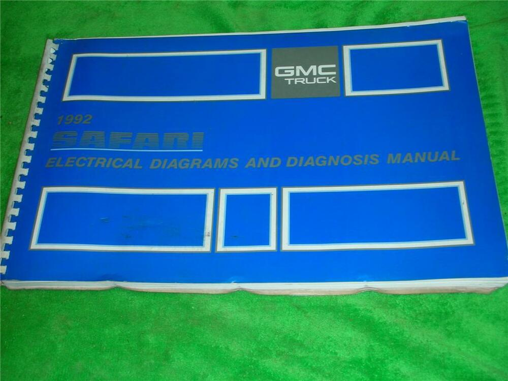 1992    GMC       SAFARI       VAN    ELECTRICAL DIAGRAMS SERVICE MANUAL   eBay