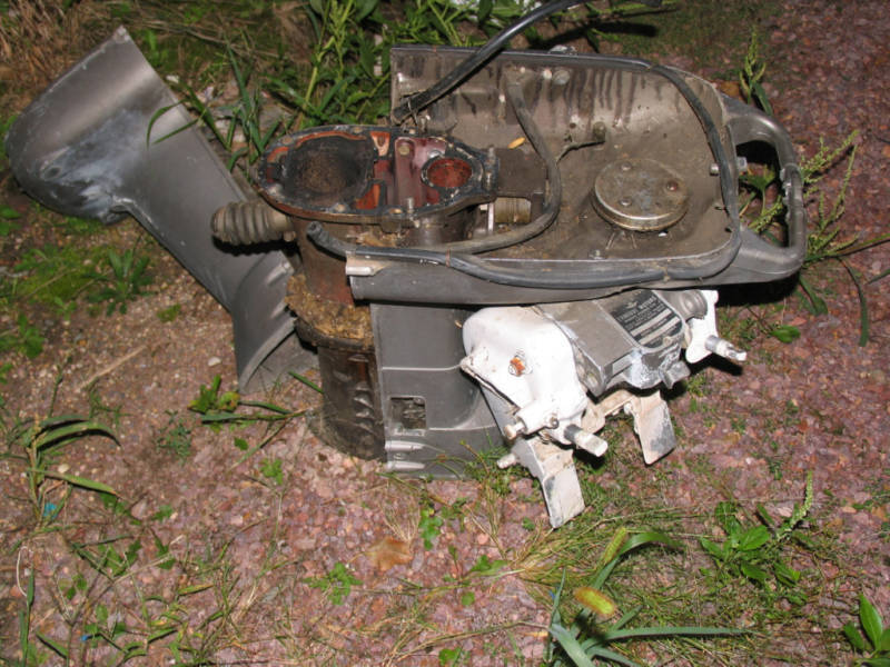 Evinrude johnson omc outboard 40 hp motor mid section ebay for Ebay boat motors outboard