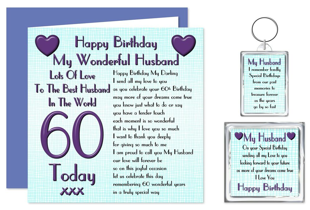 60th Husband Happy Birthday Gift Set