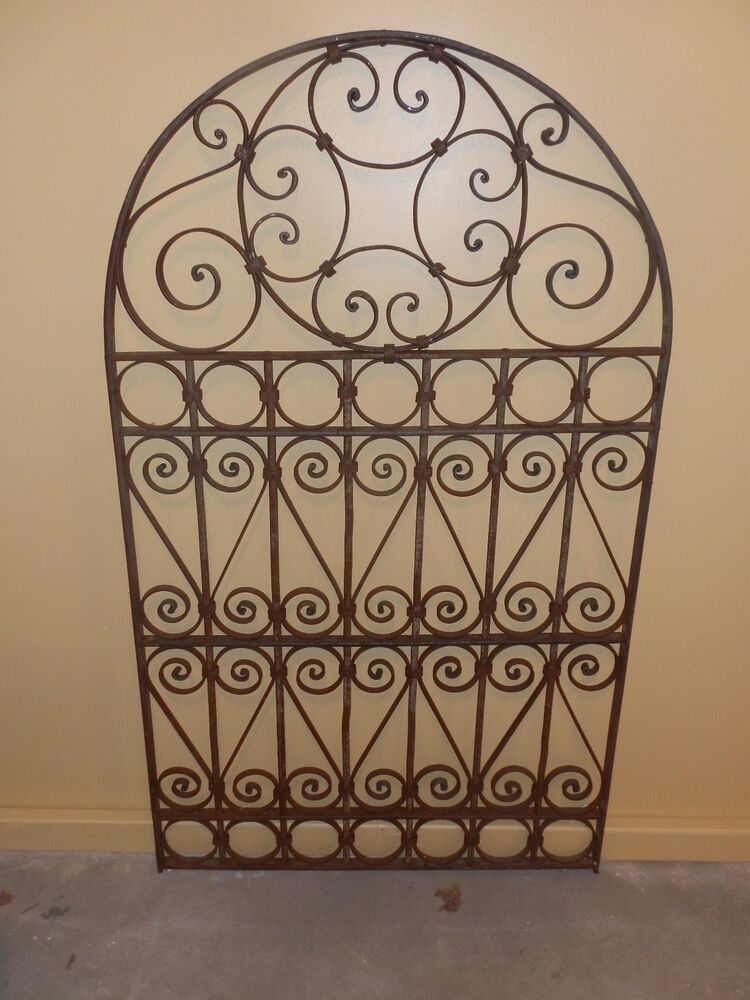60 Quot Ornate Old World Arched Top Wrought Iron Gate Ebay