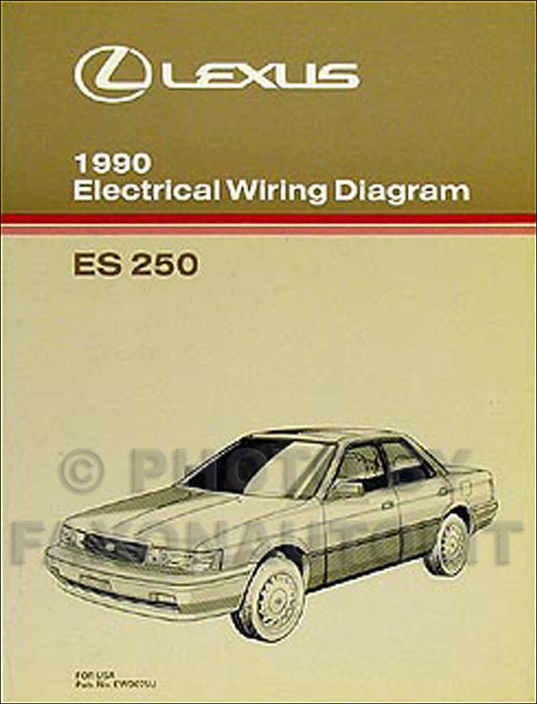 1990 lexus es 250 wiring diagram manual 90 es250 oem electrical schematic ebay. Black Bedroom Furniture Sets. Home Design Ideas