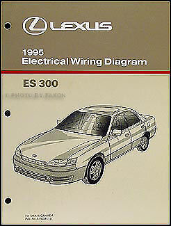 1995 lexus es 300 wiring diagram manual electrical schematics 95 es300 original ebay. Black Bedroom Furniture Sets. Home Design Ideas