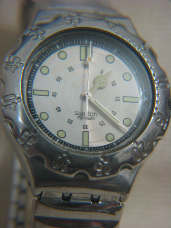 Swatch diver 39 s stainless steel watch 1994 ebay - Swatch dive watch ...