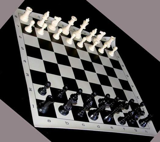 Triple Player Chess Board : Triple weighted tournament chess set sets pieces boards