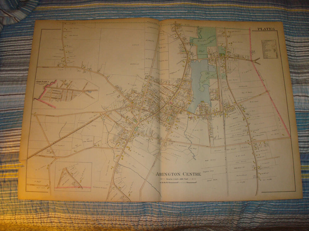 abington plymouth county massachusetts antique map nr ebay. Black Bedroom Furniture Sets. Home Design Ideas