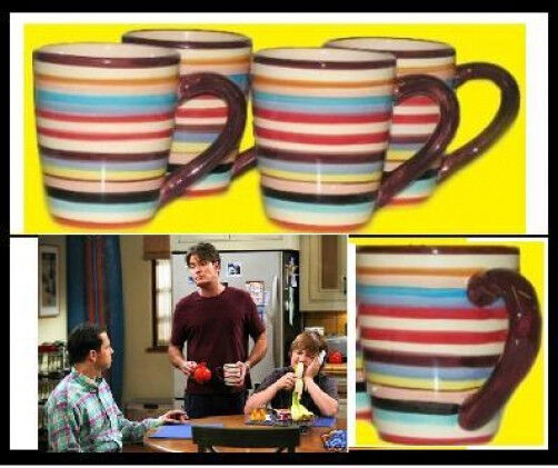Two and a half men charlie sheen cups mugs coffee set 4 ebay - Two and a half men mugs ...