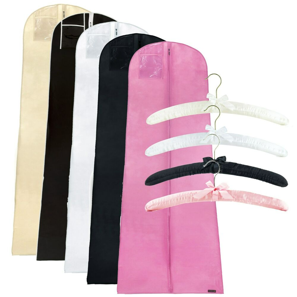 Wedding bridal dress covers 72 2 padded coat clothes for Wedding dress coat hanger