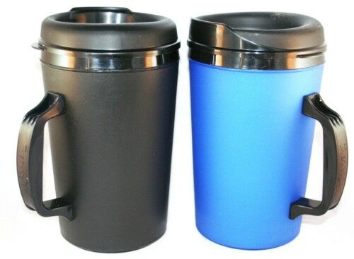 2 foam insulated 34 oz thermo serv travel coffee mugs ebay. Black Bedroom Furniture Sets. Home Design Ideas