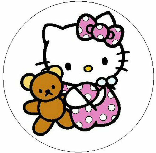 Hello kitty baby girl 1 sticker seal labels ebay for Cassapanca hello kitty