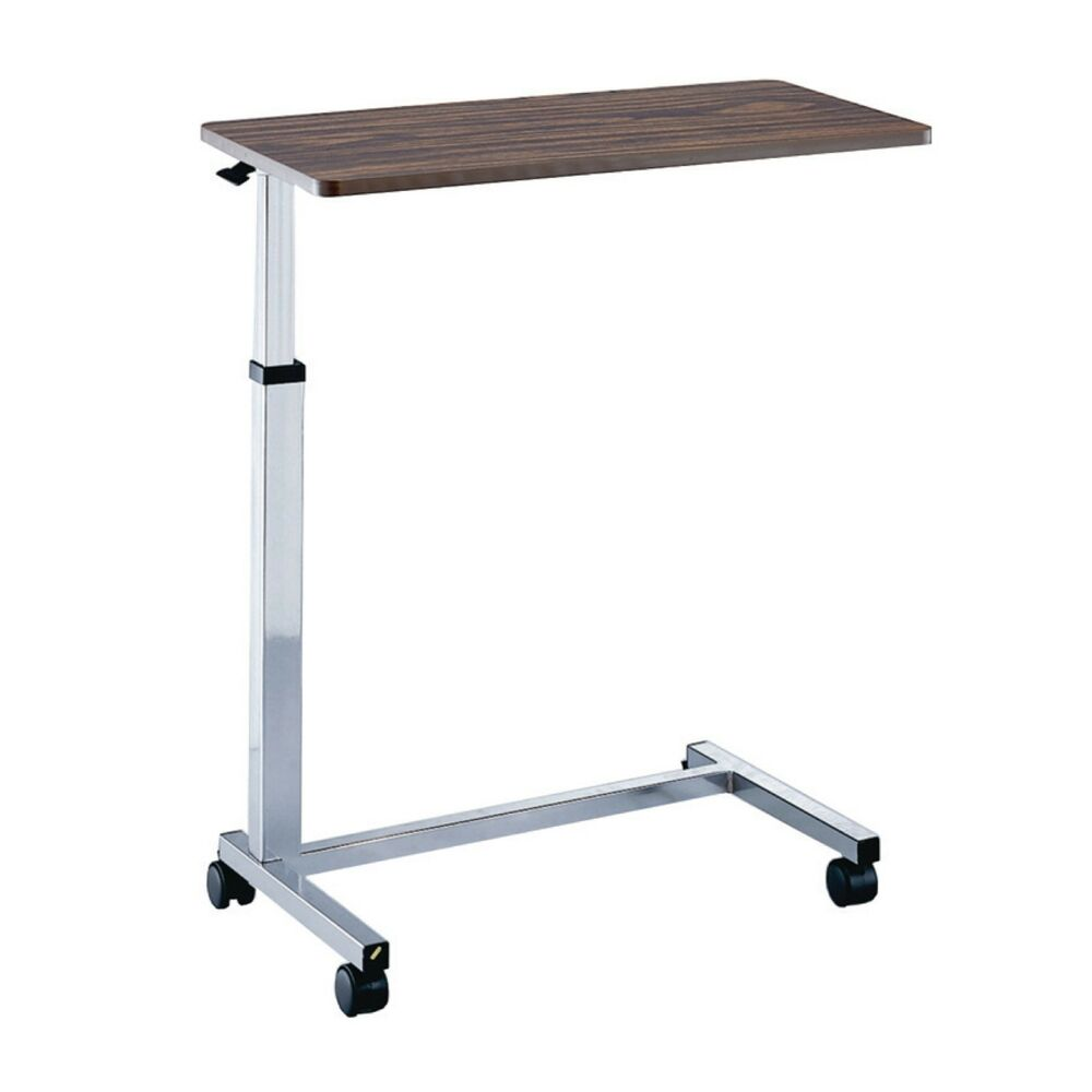 Adjustable Non Tilt Overbed Table Hospital Sturdy Ebay