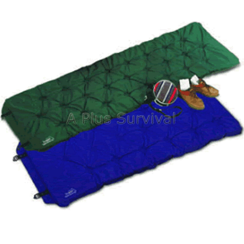 self inflating camping mattress bed pad blue color ebay 88445