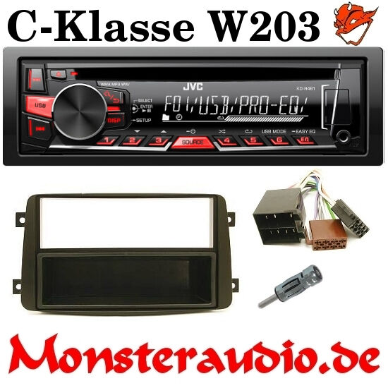 jvc autoradio cd mp3 usb mercedes w203 c klasse clk radio. Black Bedroom Furniture Sets. Home Design Ideas