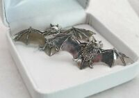 Bat Cufflinks in Fine English Pewter, Gift Boxed