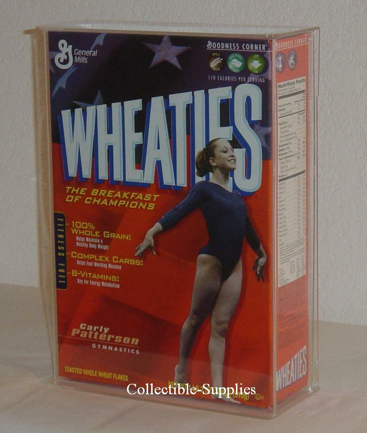 NEW WHEATIES 18 Oz. CEREAL BOX WALL MOUNT DISPLAY CASE