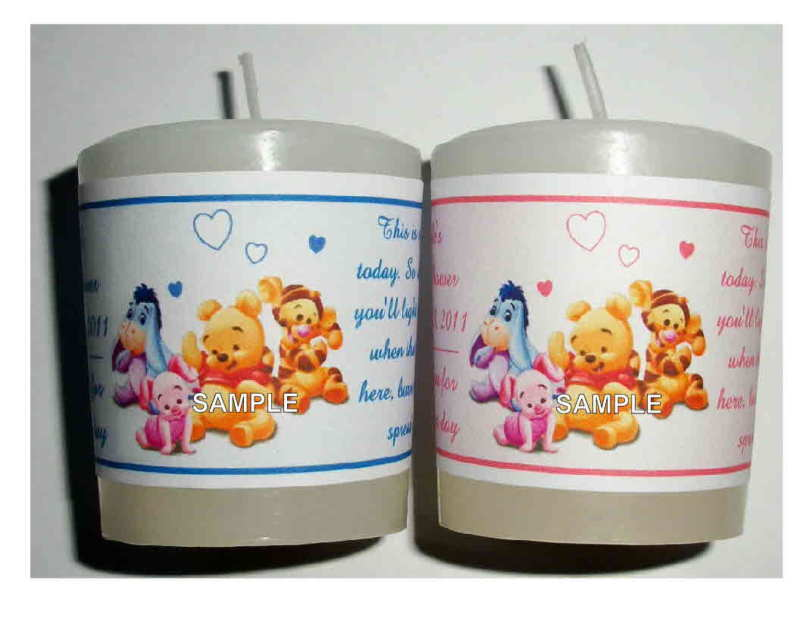 14 winnie the pooh baby shower favors votive candle labels ebay
