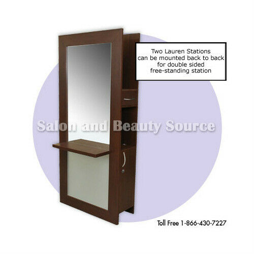 Styling station mirror beauty salon furniture equipment ebay for Salon furniture makeup station