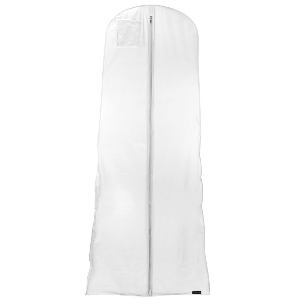 Wedding Gown Garment Bag: White Showerproof Wedding Dress Cover Garment Clothes Gown