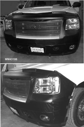 front end mask bra fits 2007 2011 gmc sierra 1500 pickup. Black Bedroom Furniture Sets. Home Design Ideas