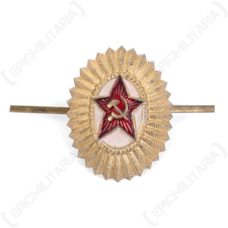 img-Soviet Officers Cap Badge - Russian Army Beret Pin Uniform Military Red Star New