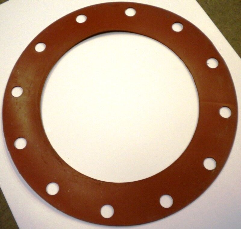 Full face type flange gaskets od quot red rubber ebay
