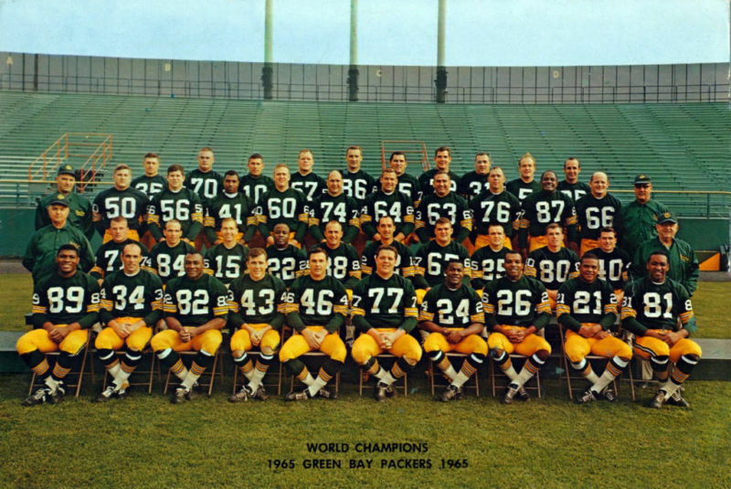 "Green Bay Packers Roster >> 1965 GB Packers NFL Champs, Color Team Photo 7."" x 10"" 