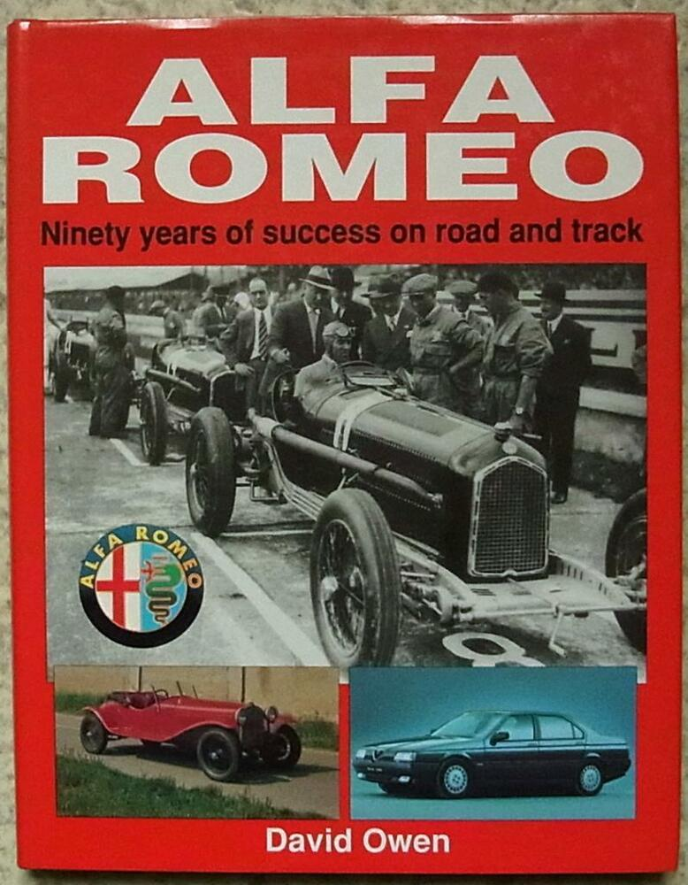 alfa romeo 90 years of success book david owen 1993 ebay. Black Bedroom Furniture Sets. Home Design Ideas