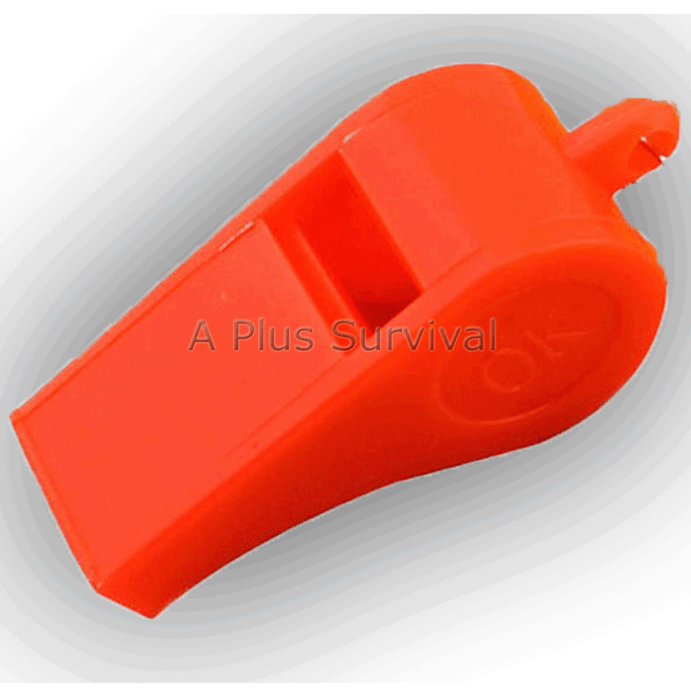 Lot of 100 Plastic Whistle /& Lanyard Emergency Survival