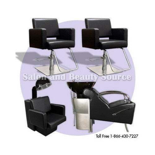 Salon package beauty styling chairs equipment furniture ebay for Salon furniture and equipment