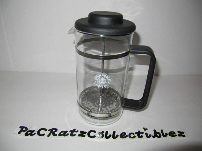 Starbucks ★ Vintage Old Split Tail Siren Logo Glass French