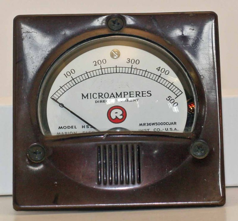 Electric Meter Panel : Tested marion electric µa dc panel mount meter ebay