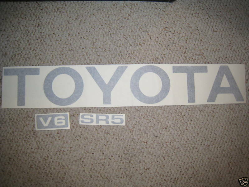 Truck Stickers For Back Window >> TOYOTA TRUCK TAILGATE LOGOS DECAL 89-95 SILVER pickup | eBay