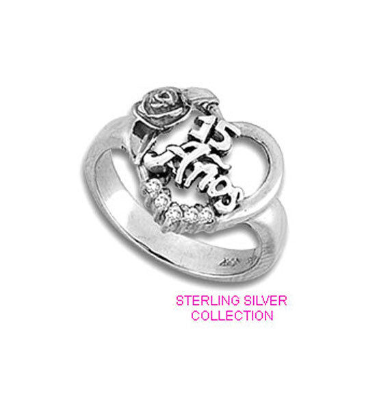 quinceanera ring 15 in sterling silver various size