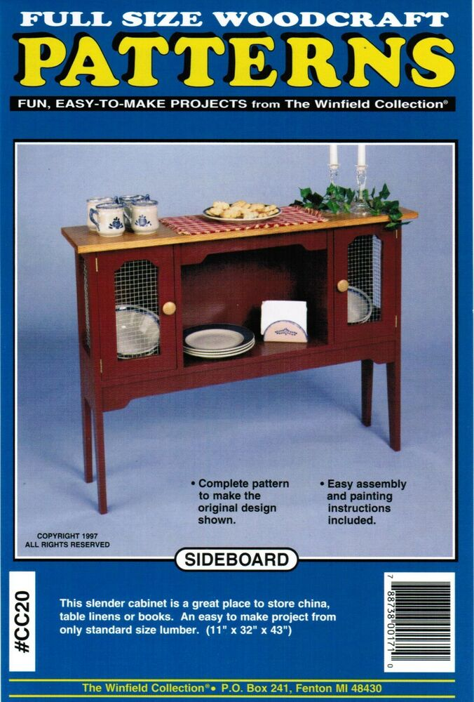 Sideboard Cabinet Woodworking Plans The Winfield Collection | eBay