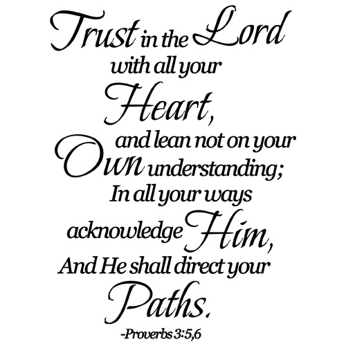Trusting In The Lord Quotes: TRUST IN THE LORD QUOTE VINYL WALL DECAL STICKER ART
