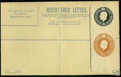 registered letter george v registered letter 2d black 2d rp31ga ebay 24259 | s l1000