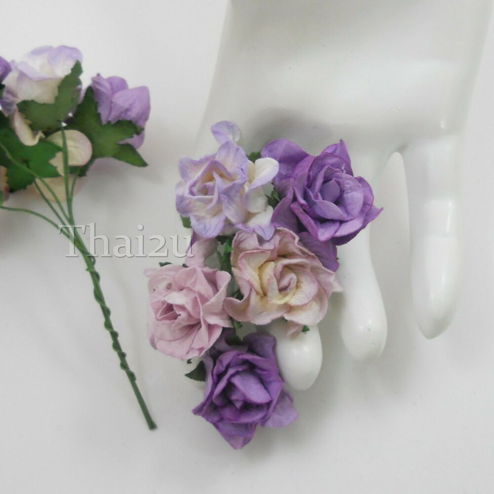 Wedding Gift Flowers: 25 Purple Mix Paper Flowers DIY Wedding Gift Scrapbook