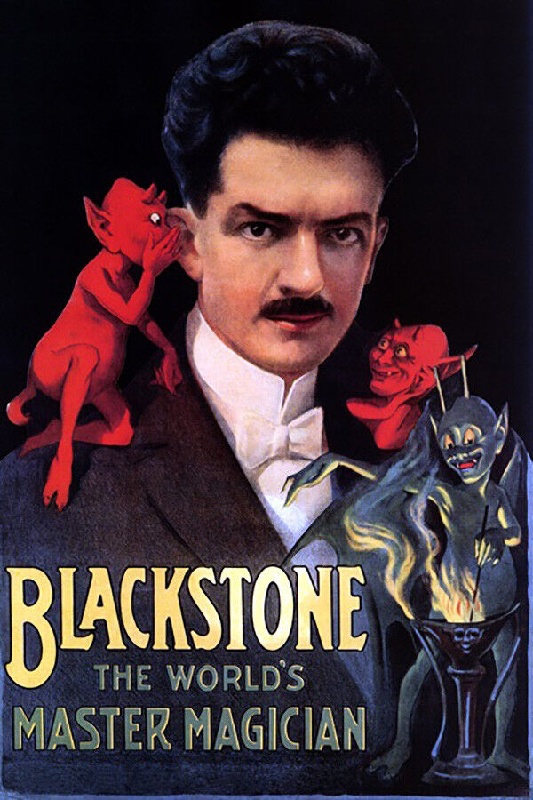 Magician From The Crystal Visions Tarot: MAGIC BLACKSTONE MASTER MAGICIAN RED DEVIL LITTLE DEMONS