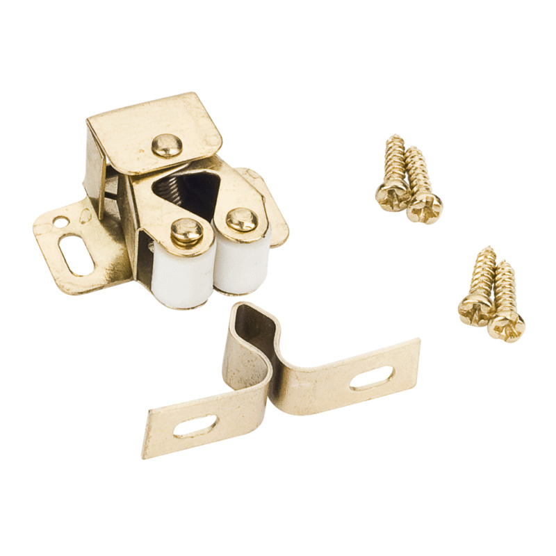Cabinet Hardware Double Roller Catch Polished Brass Ebay