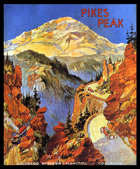 PIKES PEAK COLORADO SPRINGS MANITOU MOUNTAIN USA TRAVEL