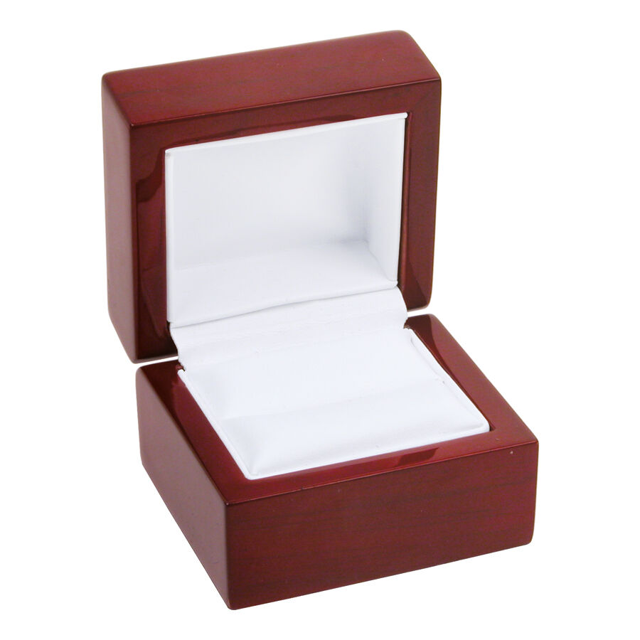 12 cherry rosewood solid wood ring jewelry box ebay