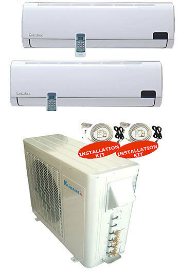 Dual Zone Ductless Split Air Conditioner Seer 16 12 12 Ebay