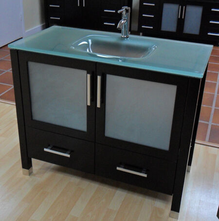 42 Modern Contemporary Bathroom Vanity Sink Cabinet Ebay
