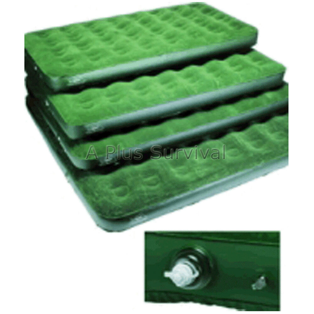 deluxe queen size air bed mattress perfect for camping ebay. Black Bedroom Furniture Sets. Home Design Ideas