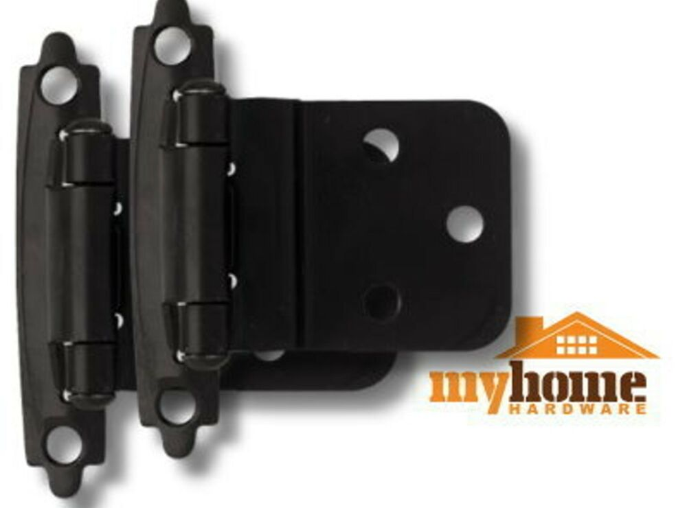 Cabinet door inset hinges matte black 1 pair hinge ebay for Black cabinet with doors